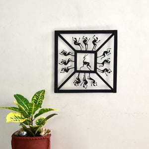 Chinhhari arts Wrought Iron square jaali wall hanging