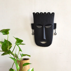 Chinhhari arts Wrought Iron Tribal Mask - Chinhhari Arts store
