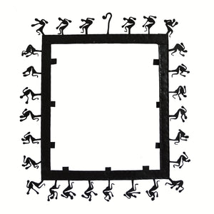 Chinhhari arts Wrought Iron square mirror frame - Chinhhari Arts store