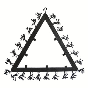 Chinhhari arts Wrought Iron  triangle mirror frame - Chinhhari Arts store