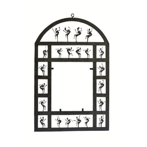Chinhhari arts Wrought Iron rectangle mirror frame with dome