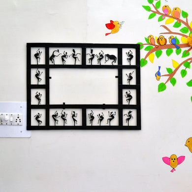 Chinhhari arts Wrought Iron  rectangle mirror frame