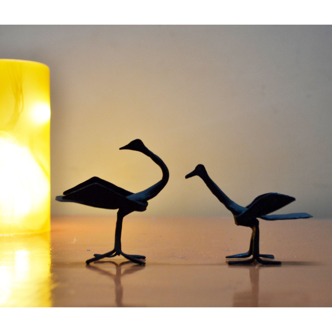 Chinhhari arts Wrought Iron Mini Swan