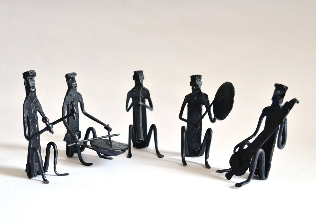 Chinhhari arts Wrought Iron Musician Set - Chinhhari Arts store