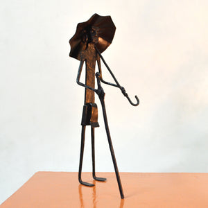 Chinhhari arts Wrought Iron umbrella man - Chinhhari Arts store