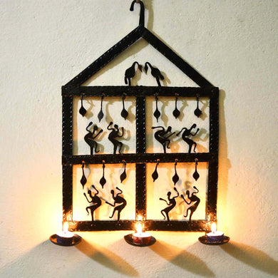 Chinhhari arts Wrought Iron Diya Wall Hanging