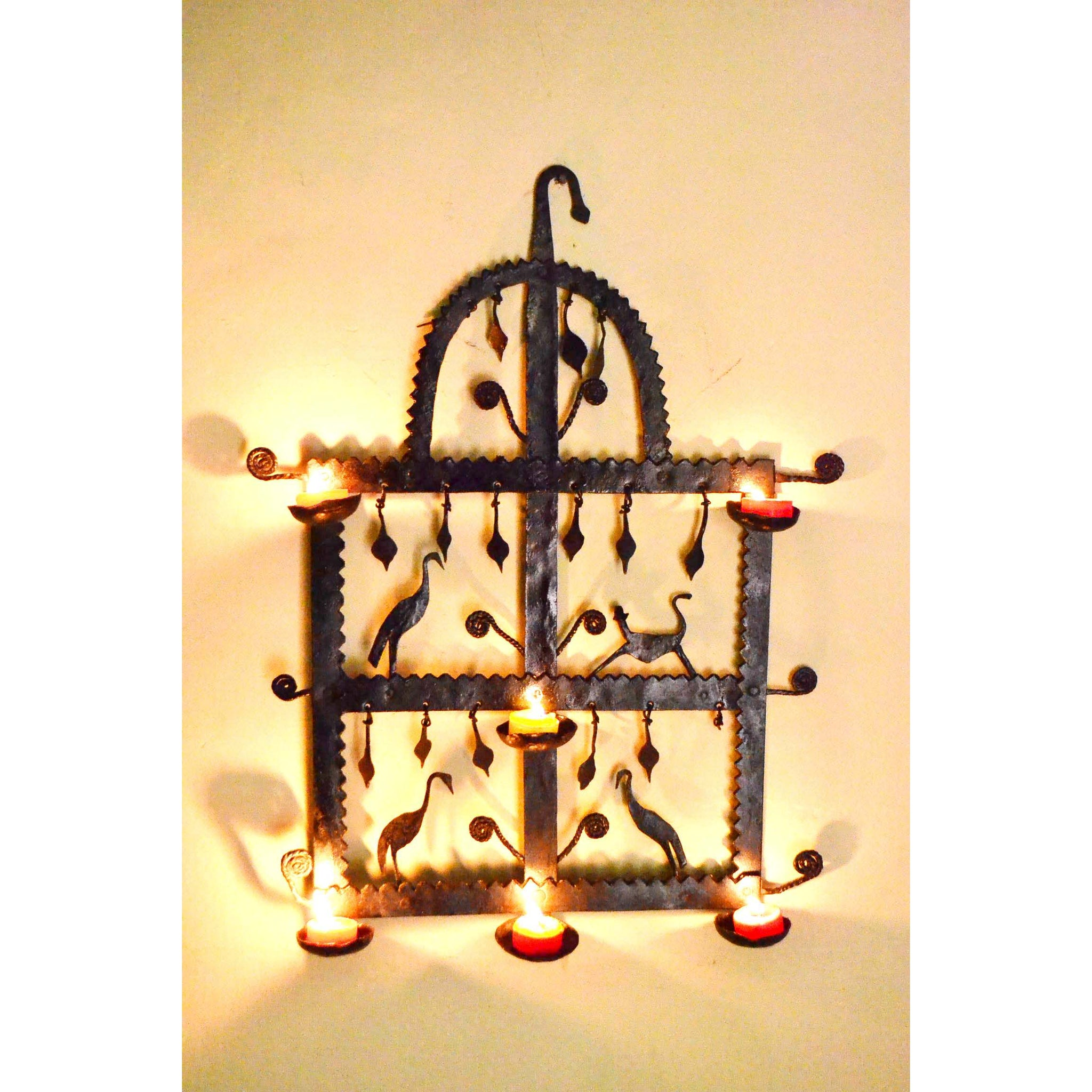 Chinhhari arts Wrought Iron Diya Wall Hanging – Chinhhari Arts store
