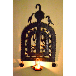 Chinhhari arts Wrought Iron Diya Wall Hanging - Chinhhari Arts store