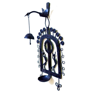 Chinhhari arts Wrought Iron Diya Hanging Will Bell - Chinhhari Arts store