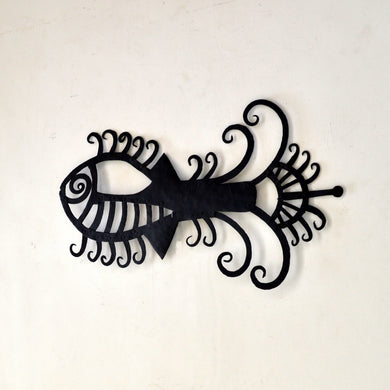 Chinhhari arts Wrought Iron abstract fish - Chinhhari Arts store
