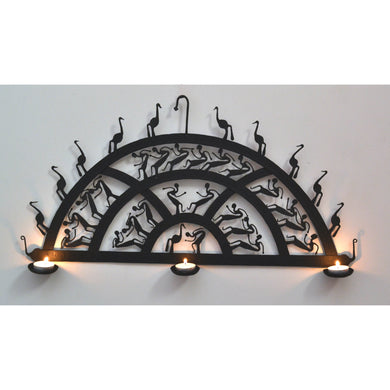 Chinhhari arts Wrought Iron semi circle wall hanging