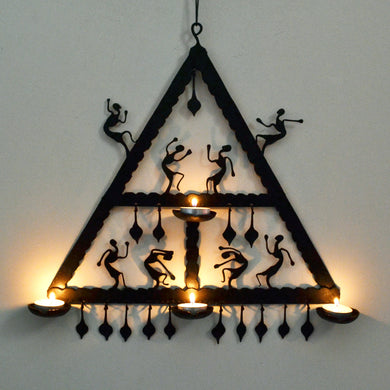 Chinhhari arts Wrought Iron triangle wall hanging