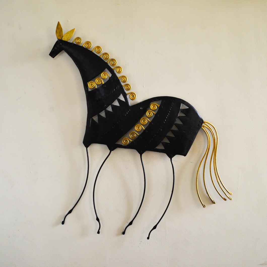 Chinhhari arts Wrought Iron Abstract horse - Chinhhari Arts store