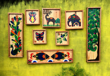 Chinhhari arts wooden hand painted wall decor tiles - WWD001