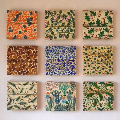 Chinhhari arts wooden hand painted wall decor tiles - WWD004 - Chinhhari Arts store