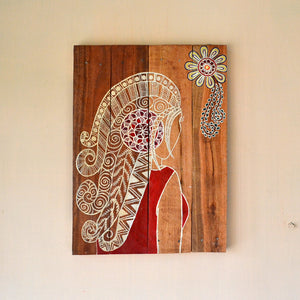 Chinhhari arts wooden hand painted wall decor