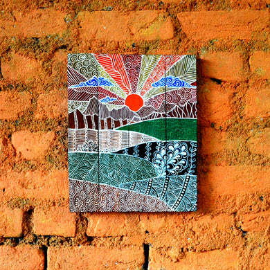 Chinhhari arts wooden hand painted wall decor - WWD008 - Chinhhari Arts store