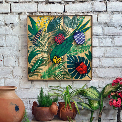 Chinhhari arts wooden hand painted bugs wall decor - WWD009 - Chinhhari Arts store