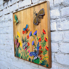 Chinhhari arts wooden hand painted butterfly wall decor - WWD010 - Chinhhari Arts store
