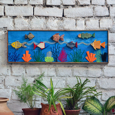 Chinhhari arts wooden hand painted fish  wall decor - WWD011 - Chinhhari Arts store
