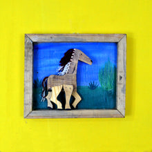 Chinhhari arts wooden set of 3 hand painted horse wall decor - WWD020
