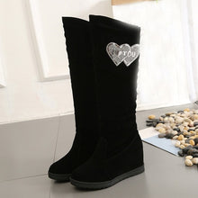 Load image into Gallery viewer, Boots Women Winter Black Snow Boots Women Knee Thigh High Elastic Boots For Women Sexy Middle Tube Wedge Shoes zapatos de mujer