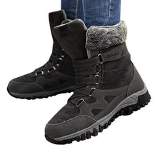 Load image into Gallery viewer, New Arrival Fashion Suede Leather Women Snow Boots Winter Warm Plush Women's boots Waterproof Ankle Boots Flat shoes 35-42
