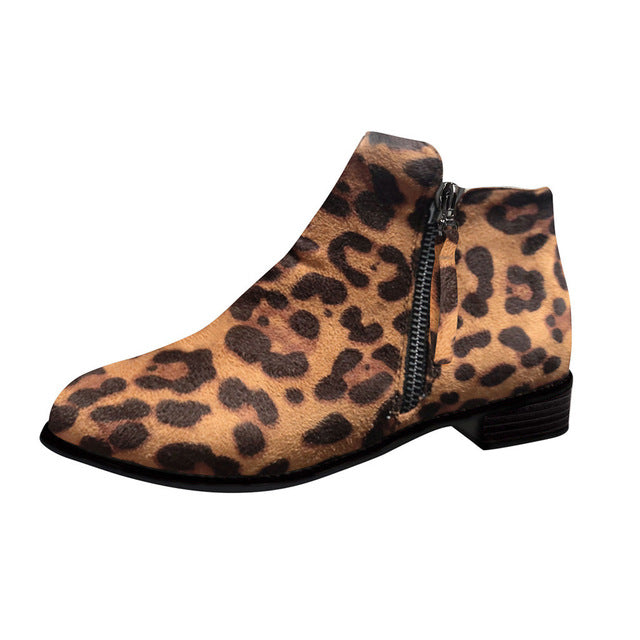 Print Snake Pu Women Ankle Boots Zip Pointed Toe Footwear Thick High Heels Female Boot Shoes Women 2020 snakeskin Bootie#N3