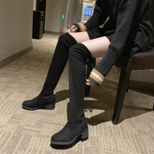 Load image into Gallery viewer, Thigh High Boots Female Winter Boots Women Over the Knee Boots Flat Stretch Sexy Fashion Shoes 2018 New Riding Boots#g3