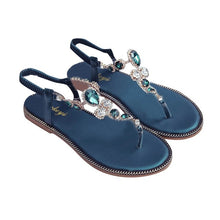 Load image into Gallery viewer, Woman Sandals 2019 Bohemian Summer Shoes Women Flat Sandals Beach Shoes Crystal Beach Sandals Casual Shoes