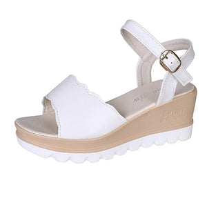 Women Sandals 2019 Student Wedges Summer Shoes Platform Sandals Women Casual Beach Sandals Women Sandalias White