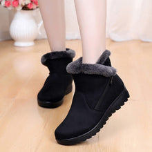 Load image into Gallery viewer, Women Snow Boots Short Platform Zip Shoes Suede Warm Plush Winter Female Ankle Boots Plus Size Fur Comfort Shoes Bottes Femme