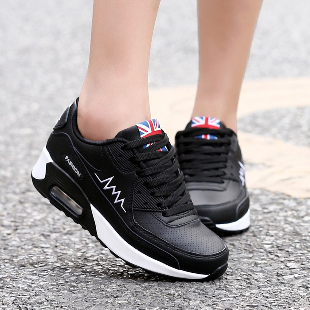 Women/'s Fashion Casual Lace Up Breathable Sport Running Platform Sneakers Shoes