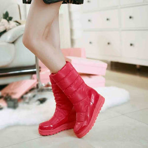 Women's High Winter Boots Rubber Sole Warm Shoes Outdoor Platform Snow Boots
