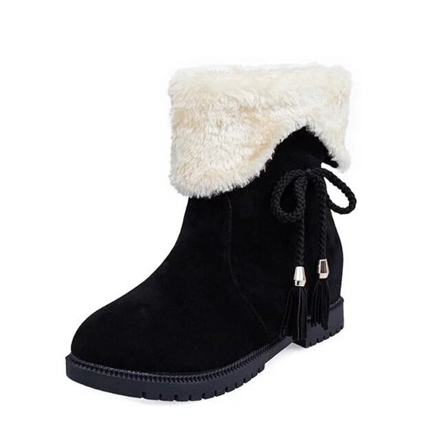 YOUYEDIAN Snow Boots Winter Ankle Boots Women Shoes Heels Winter Boots Fashion Shoes women shoes winter snow boots warm glit#g30