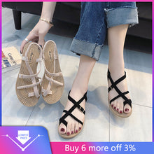 Load image into Gallery viewer, YOUYEDIAN Summer women's shoes sandals fashion wild retro 2019 new ladies summer sandals Ladies sandals sandalias mujer 2019#g3