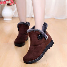 Load image into Gallery viewer, YOUYEDIAN Winter Boots Women 2018 Short Plush Ankel Boots For Women Wedges Ladies Shoes Slip On Snow Boots Bota Feminina