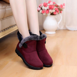 YOUYEDIAN Winter Boots Women 2018 Short Plush Ankel Boots For Women Wedges Ladies Shoes Slip On Snow Boots Bota Feminina