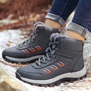 YOUYEDIAN Winter Boots Women 2019 Casual Outdoor Ankel Boots For Women Lace Up Ladies Shoes Flat Snow Boots Bota Feminina