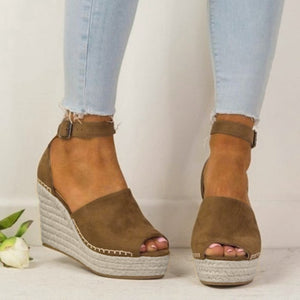 YOUYEDIAN Women Sandals 2019 Wedges Platform Sandals Summer Ladies Sandals Peep Toe Casual Shoes Sandalia Feminina