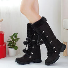 Load image into Gallery viewer, YOUYEDIAN Women Snow Boots 2018 Plush Mid Calf Boots Women Winter Shoes Casual Hairball Warm Platform Boots Botas Mujer
