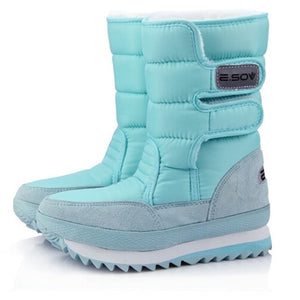 YOUYEDIAN Women Snow Boots Winter Warm Mix Colors Plush Flat Causal Sweet Waterproof women's boots for winter 2019#g35