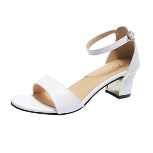 YOUYEDIAN Women's Fashion Casual Round Toe Buckle Strap Sandals Thick Heel Open Toe Shoes zapatos de mujer de moda 2019 de #3