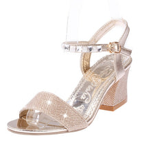 Load image into Gallery viewer, YOUYEDIAN low heel sandals for women Women Ladies Fashion Crystal Casual Square Heel Single Shoes Sandals buty damskie#g3