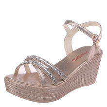 Load image into Gallery viewer, YOUYEDIAN wedges sandals for women luxury Summer Women Ladies Summer Crystal Wedges Beach Sandals Peep Toe Casual Shoes#G4