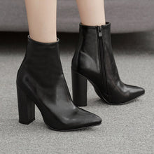 Load image into Gallery viewer, YOUYEDIAN white boots pump European style contracted Tide Girl Boots Woman British Style Boots Martin Boots  7#3.5a1