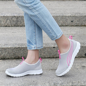 new arrival Women's Mesh flats shoes Breathable Casual Sports Running Shoes Hollow Sneakers Loafers Soft Shoes zapatos