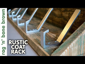 In this video I make a rustic coat rack with a shelf and a distressed paint finish, using some pallet wood and salvaged coat hooks