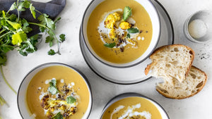 Creamy, rich and charred to perfection, our Plant Based Curry Cauliflower Soup is the ultimate reset dish with its smooth texture and flavour.