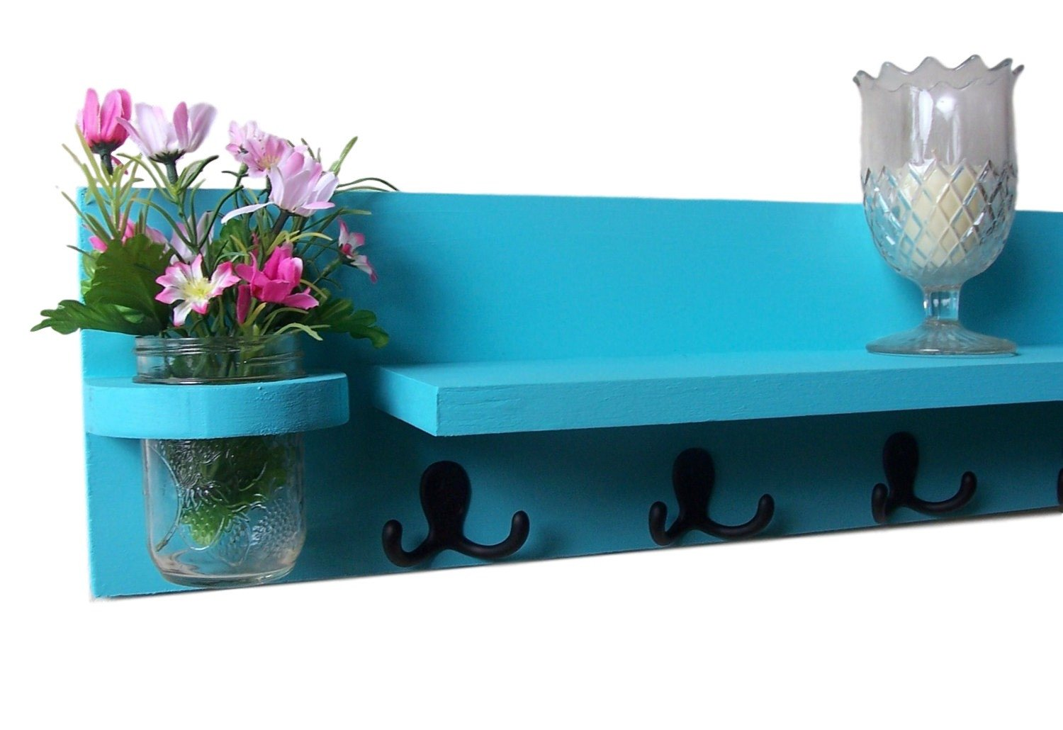 Coat Rack - Mail Organizer - Shelf with Mail Holder
